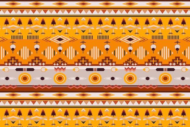 Ethnisches muster, nahtloser hintergrundvektor, nahtloses design der amerikanischen ureinwohner