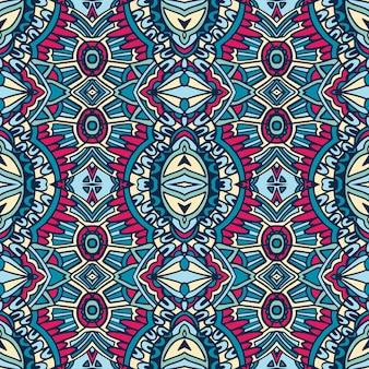 Ethnisches nahtloses muster der abstrakten organischen boho art vintage dekorativ