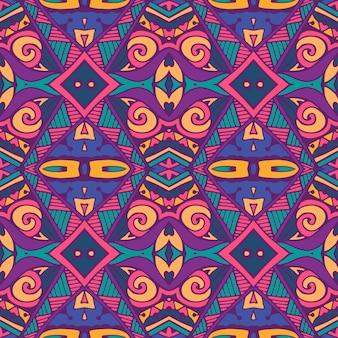 Ethnisches nahtloses muster der abstrakten stammesweinlese dekorativ