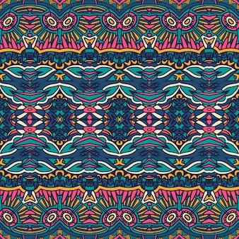 Ethnisches nahtloses muster der abstrakten stammesweinlese dekorativ.