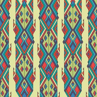 Ethnisches nahtloses muster der stammes- weinlese. aztekisch, mexikanisch, navajo, afrikanisches motiv.