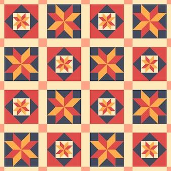 Ethnisches nahtloses muster im stil des patchworks