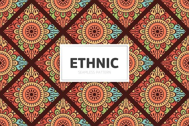 Ethnisches nahtloses musterornament.