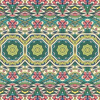 Ethnisches stammes- festliches muster für stoff. abstrakte geometrische bunte nahtlose muster ornamental.