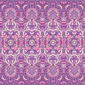 Ethnisches stammesblumen-psychedelisches muster