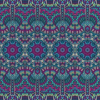 Ethnisches tribales festliches muster für stoff abstraktes geometrisches buntes nahtloses muster ornamental