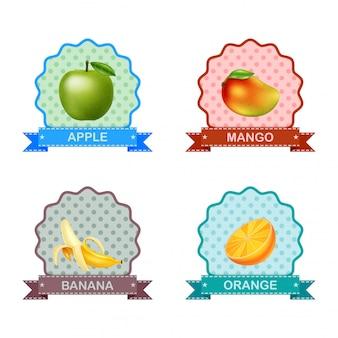 Etikett für früchte