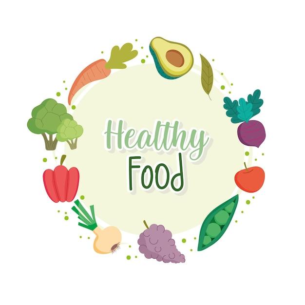 Etikett für gesunde lebensmittel
