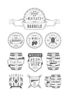 Etiketten für alkoholische getränke