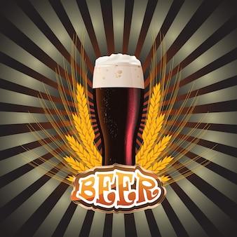 Etiketten für das bier. das bild enthält ein verlaufsnetz