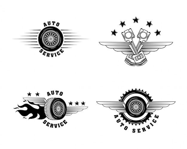 Etiketten für die automobilindustrie