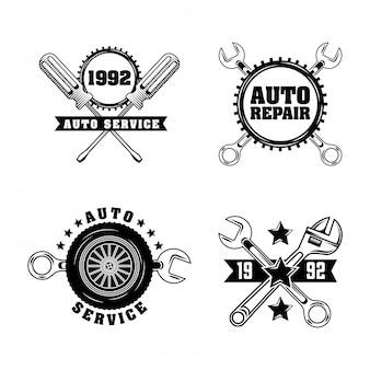 Etiketten für die automobilindustrie Kostenlosen Vektoren