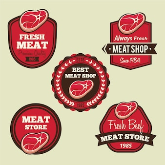 Etiketten für fleischläden