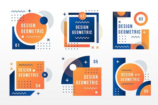 Etiketten im geometrischen stil