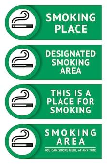 Etiketten setzen aufkleber für raucherplätze