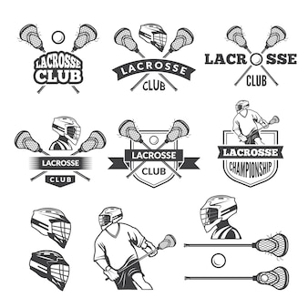 Etiketten von lacrosse club.