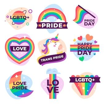 Etikettendesign für pride day event