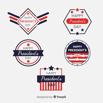 Etikettensammlung des Präsidenten am Tag
