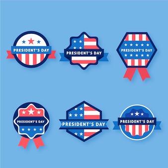 Etikettensammlung zum präsidententag