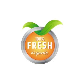 Etikettenvorlage für 100% bio-lebensmittel