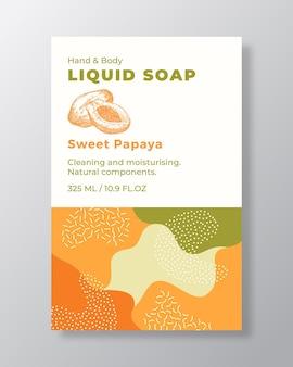 Etikettenvorlage für flüssigseifenverpackungen