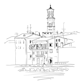 Etsch am ufer der etsch in verona, italien