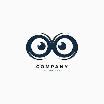 Eule augen logo design-vorlage