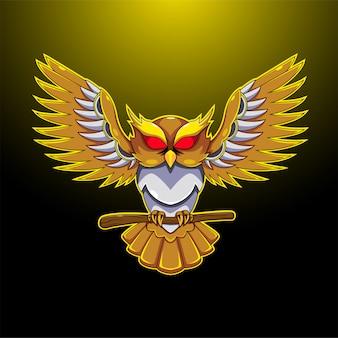 Eule esport maskottchen logo
