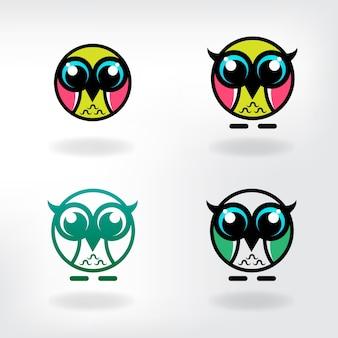 Eule logo vorlage download vektor