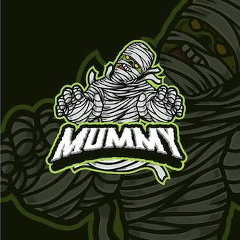 Eule maskottchen esport gaming logo-design