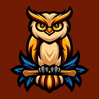 Eule tolles logo-design