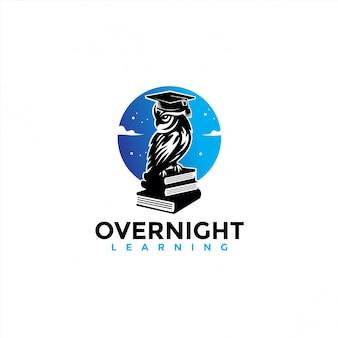 Eulen maskottchen bildung logo design