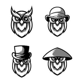 Eulen-maskottchen-design