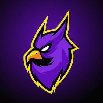 Eulen-maskottchen-logo