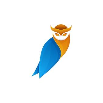 Eulenmaskottchen-logoentwurf