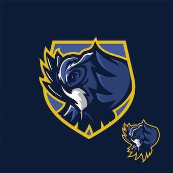 Eulenvogel Esport Gaming Maskottchen Logo Vorlage
