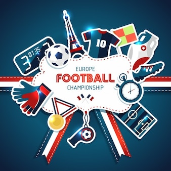Europa Fußball Meisterschaft Sport Vektor-Illustration