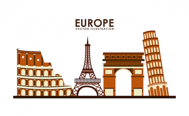 Europa-ikonendesign, grafik der vektorillustration eps10
