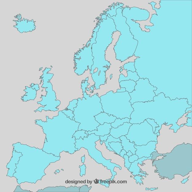 Europa karte vector