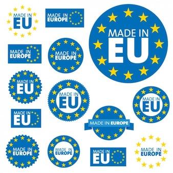 Europäische union-label-kollektion