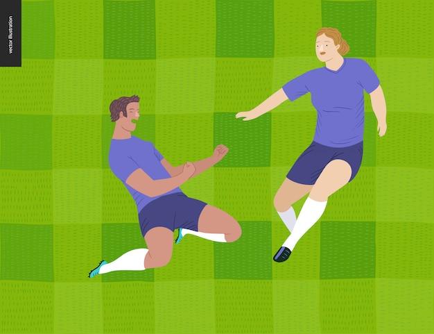 Europäischer fußball der frauen, fußballspieler