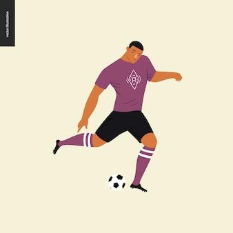 Europäischer fußball, fußballspieler