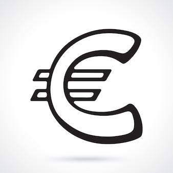 Europäisches eurozeichen vektor-illustration das symbol der weltwährungen umriss-vektor-illustration