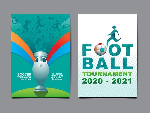 Europäisches fußballturnier, 2020-2021, hintergrundillustration.