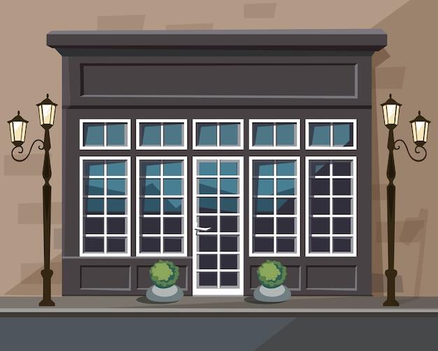 Europian shop museum restaurant store mit fenstern