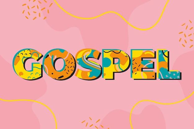 Evangeliumswortkonzept geschrieben auf rosa hintergrund