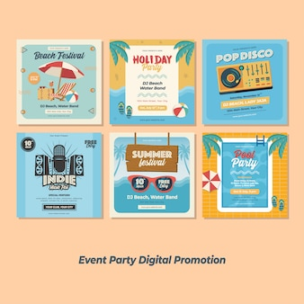 Event festival party digitale werbung