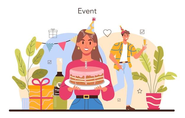 Event-management-konzept. urlaub, zeremonie oder firmen