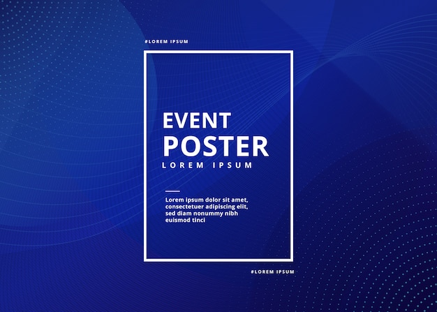 Event poster abstrakt