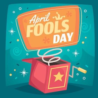 Event-thema zum aprilscherz